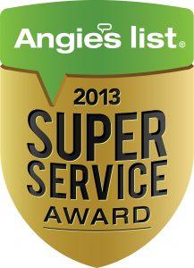 Angie's List Superior Service Award 2013